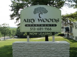 Airy Woods Sign