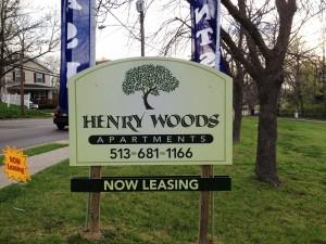 Henry Woods Sign Spring